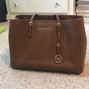 Michael Kors cognac brown purse
